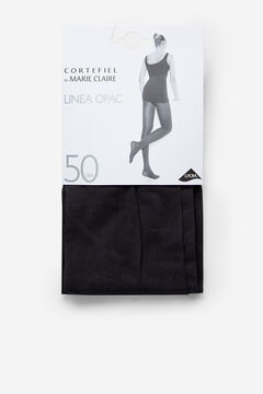 Cortefiel Opac 50D Tights Black