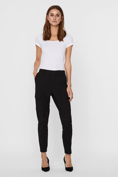 Cortefiel Cargo trousers Black