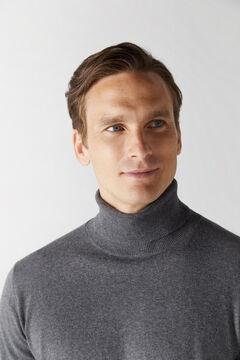 Cortefiel Cotton/cashmere polo neck jumper Gray