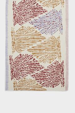 Cortefiel Multicoloured print scarf Ecru