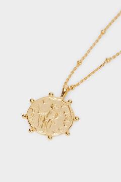 Cortefiel Collar corto de plata Amarillo