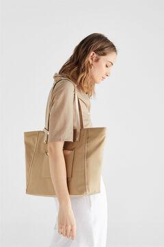 Cortefiel Shopper bag Beige