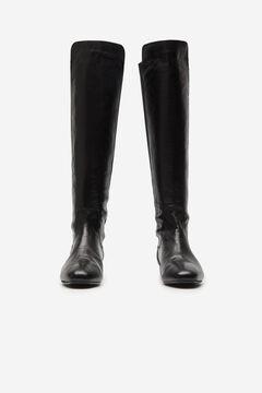 Cortefiel Over-the-knee boot Black
