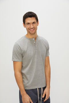 Cortefiel Jersey-knit and cotton pyjamas Gray