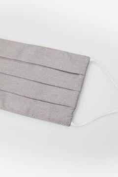 Cortefiel Mascarilla estampada efecto Chambray gris Gris
