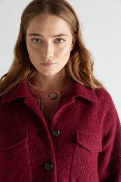 Cortefiel Checked over garment coat Red