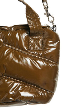 Cortefiel Padded shoulder bag Tobaco