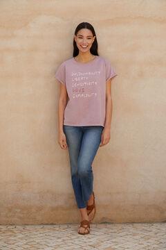 Cortefiel T-shirt de manga curta Rosa
