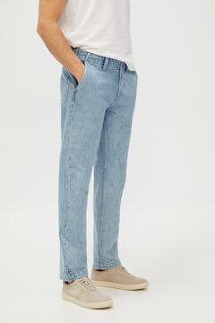 Cortefiel Regular medium wash jeans Light blue