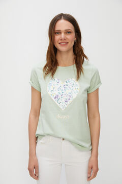 Cortefiel Special Mother's Day t-shirt Green