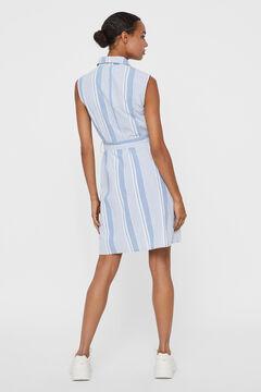 Cortefiel Short organic cotton dress Royal blue