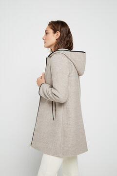 Cortefiel Dual fabric coat Beige