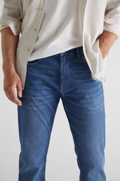 Cortefiel Slim lightweight jeans Navy