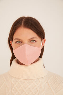 Cortefiel Plain colour face mask Pink