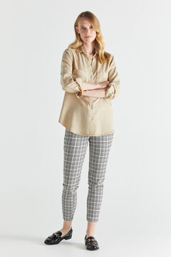 Cortefiel Skinny trousers Natural