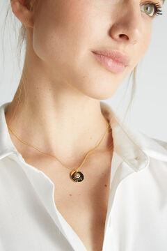 Cortefiel Collar corto SIEMPRE - Cristal - Oro Amarillo