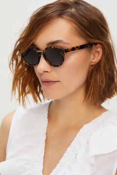 Cortefiel HIGH CONTRAST TORTOISE FITZROY sunglasses Black