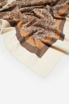 Cortefiel Snakeskin print cosy scarf Mink