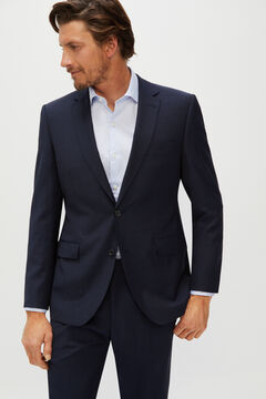 Cortefiel Checked suit jacket tailored fit Navy