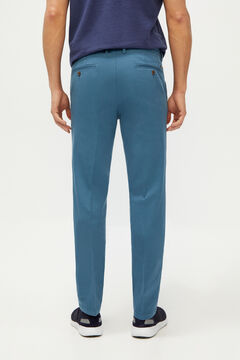 Cortefiel Textured slim fit trousers with elasticated waist Royal blue