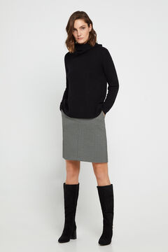 Cortefiel Jersey-knit skirt Natural
