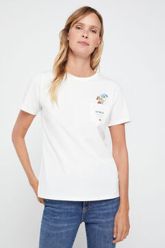 Cortefiel Disney weekdays t-shirt Eggplant