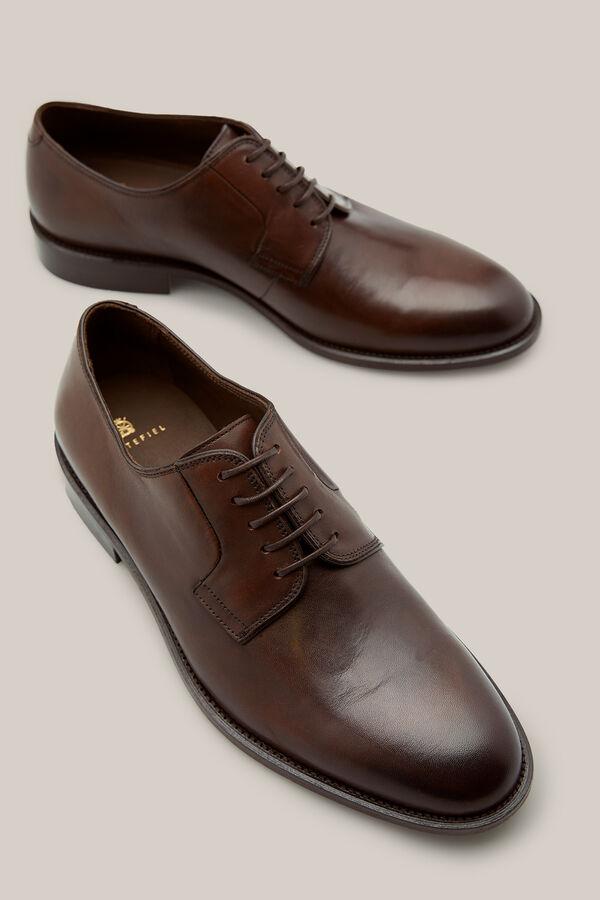 Cortefiel Zapato piel vestir Marrón 60b128dc2dcaf