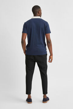 Cortefiel Short-sleeved polo shirt Navy