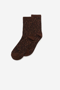Cortefiel Leopard print socks Camel