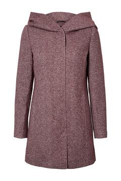 Cortefiel Abrigo de manga larga con capucha Rosa
