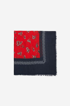 Cortefiel Lightweight paisley print scarf Redgarnet
