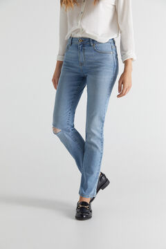 Cortefiel Straight cropped jeans Bluejeans