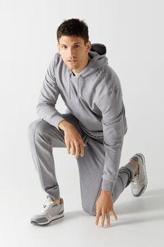 Cortefiel Loungewear jersey-knit sweatshirt Dark gray