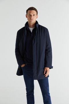Cortefiel Waterproof trench coat Navy
