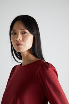 Cortefiel T-shirt básica manga abaloada Rosa