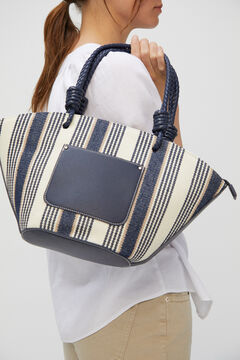 Cortefiel Canvas basket bag Navy