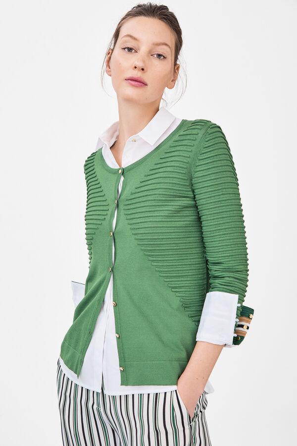 90968e4085438 Cortefiel Chaqueta detalles otomán Verde