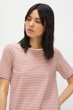 Cortefiel Essential crew neck t-shirt Ecru