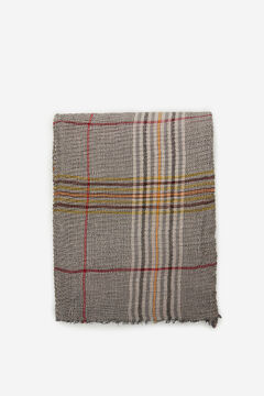 Cortefiel Fine pleated foulard with Prince of Wales check print Stone