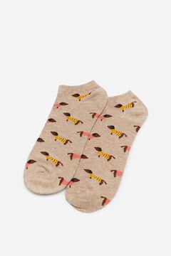 Cortefiel Dog socks Stone