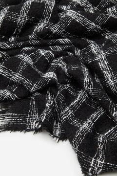 Cortefiel Checked scarf Ecru