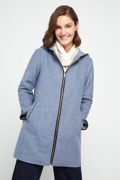 Cortefiel Dual fabric coat Blue