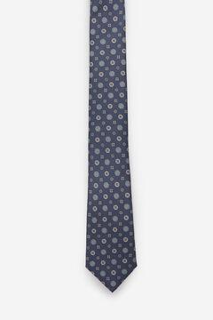 Cortefiel Floral print stain-resistant tie Navy