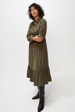 Cortefiel Midi dress Green