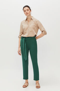 Cortefiel Fluid trousers Pistachio green
