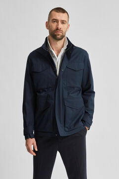 Cortefiel Pockets jacket Royal blue