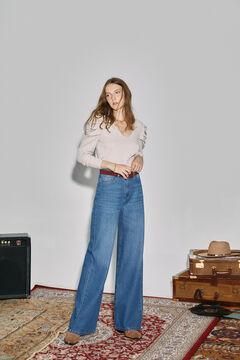 Cortefiel Wide leg jeans Bluejeans