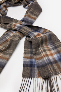 Cortefiel Checked cloth scarf Camel