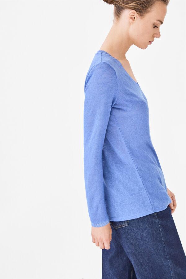 0032b583c610c Cortefiel Camiseta lúrex Azul