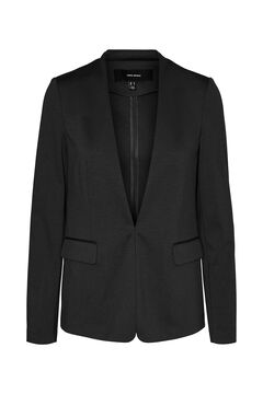 Cortefiel Lapelless blazer Black